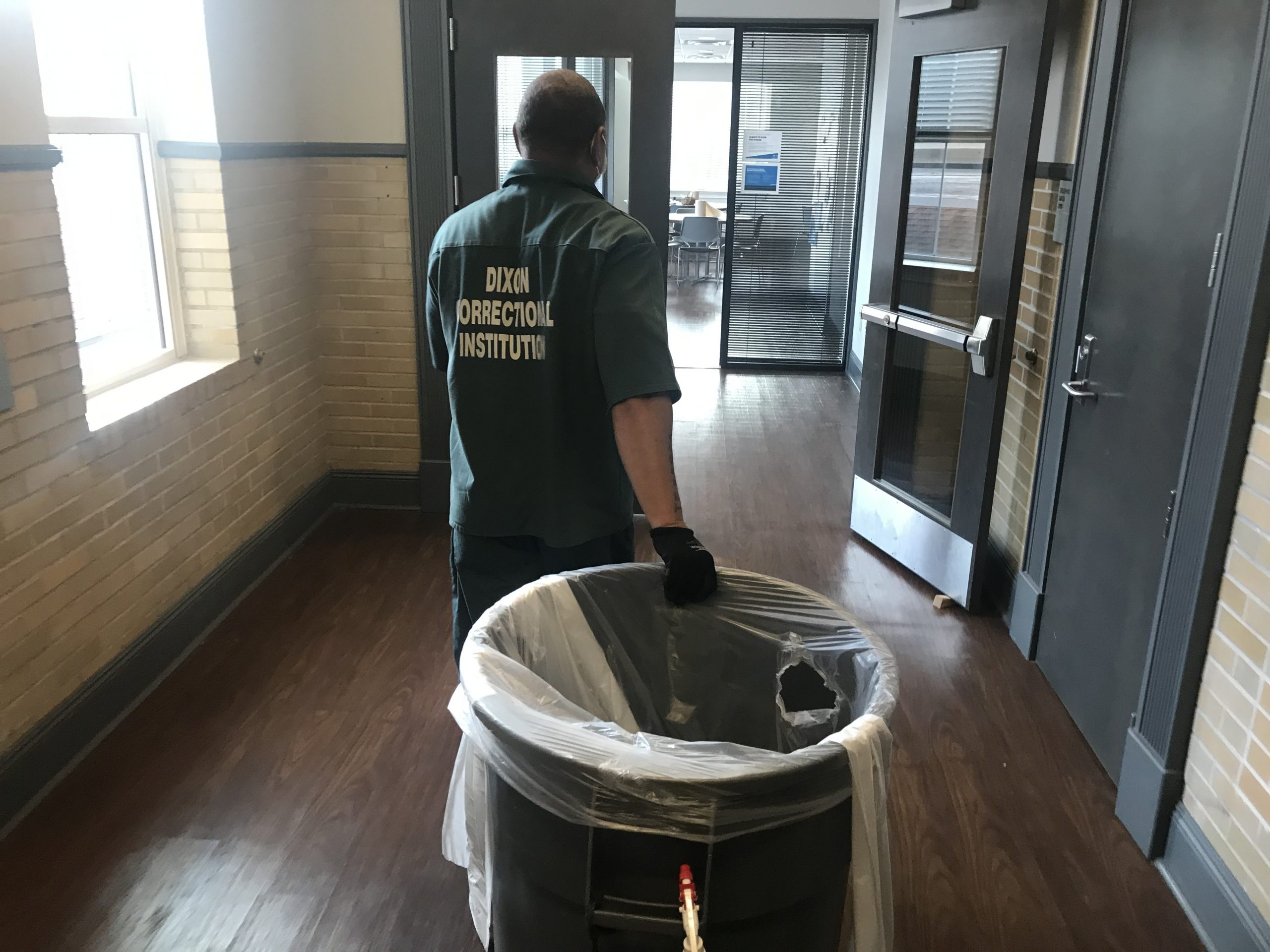 Louisiana inmate taking out the trash