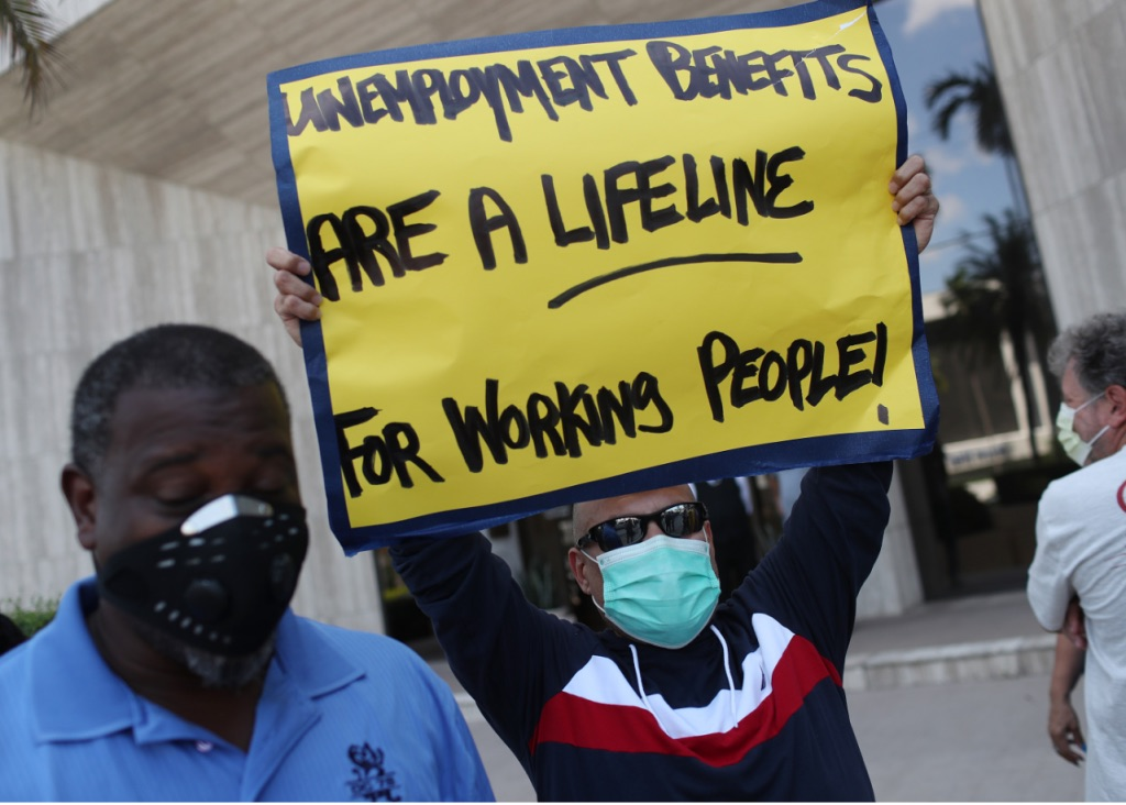 Fear of losing unemployment benefits pervades the United States