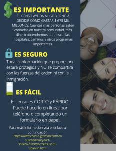 Spanish census flyer