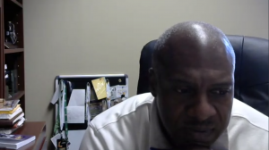 LSU athletic administrator Verge Ausberry on a Zoom call