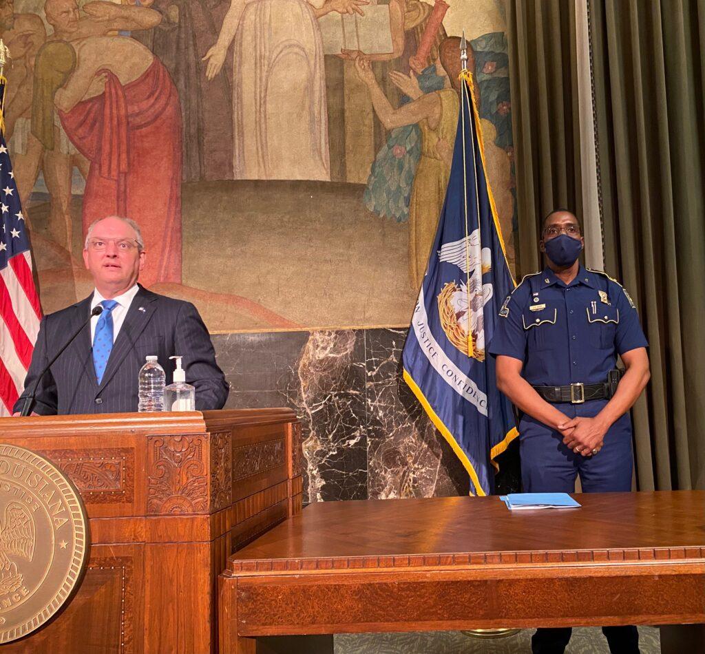 Gov. John Bel Edwards expresses support for Louisiana State Police Superintendent Col. Lamar Davis