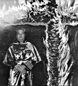 Robert Fuller in Klan regalia